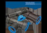 Hydro Rain Blu Lock Fittings