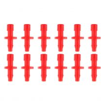 """Converter Barb 1/8"""" to 1/4"""" Red (Bag of 12) 