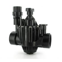 "Rain Bird PGA In-Line / Angle Valve with Flow Control 1-1/2"" FPT 