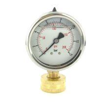 "Aqualine 0 - 200 PSI Pressure Gauge 3/4"" | PG200LS"