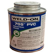 Weld-On 705 Industrial Grade Gray PVC Cement 8 oz | 705-010G
