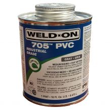 Weld-On 705 Industrial Grade Gray PVC Cement 16 oz | 705-020G