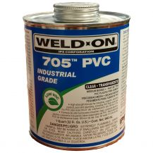 Weld-On 705 Industrial Grade Gray PVC Cement 32 oz | 705-030G