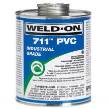 Weld-On 711 Industrial Grade Gray PVC Cement 16 oz | 711-020