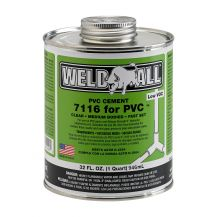 Weld-On Weld-All 7116 Clear PVC Cement 32 oz | 7116-030