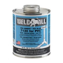 Weld-On Weld-All 7130 Hot Blue PVC Cement 32 oz | 7130-030