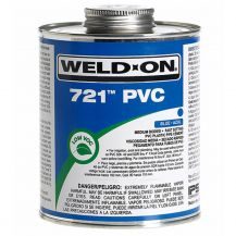 Weld-On 721 Blue PVC Cement 16 oz | 721-020