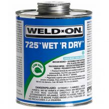 Weld-On 725 Wet R Dry Aqua Blue PVC Cement 8 oz | 725-010