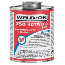 Weld-On 750 HotWeld Blue PVC Cement 8 oz | 750-010
