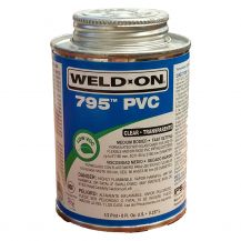 Weld-On 795 Flex Clear PVC Cement 8 oz | 795-010