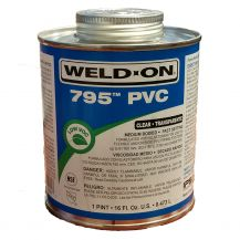 Weld-On 795 Flex Clear PVC Cement 16 oz | 795-020