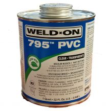 Weld-On 795 Flex Clear PVC Cement 32 oz | 795-030