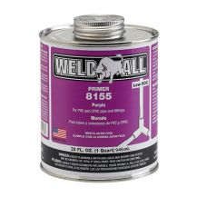 Weld-On Weld-All 8155 Purple PVC Primer 32 oz | 8155-030