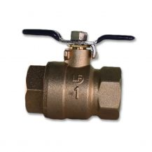 "Aqualine Lead Free Brass Backflow Ball Valve 1"" FPT 