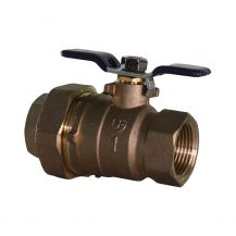 "Aqualine Lead Free Brass Backflow Ball Valve with Union 1"" FPT 