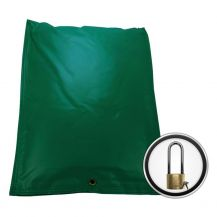 Insulated BackFlow Bag 16 in. x 21 in. Green Insulation Pouch + Lock | BFA2116GL