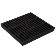 NDS Black Grid Flat Square Grate 12"