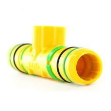 """King Innovation Tee 1"""" x 1"""" x 1/2"""" Clampless Poly x Clampless Poly x FPT 