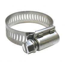 "NDS Stainless Steel Worm Gear Clamps for 1"" Poly Pipe (10 ct.) 