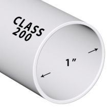 1 in. x 2 ft. Class 200 PVC Pipe (Sold in 2 ft. increments) | PP010-200-2FT