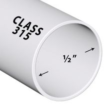 1/2 in. x 2 ft. Class 315 PVC Pipe (Sold in 2 ft. increments) | PP005-315-2FT