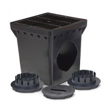 Rain Bird Black Grid 2 Outlet Square Catch Basin Kit 12"