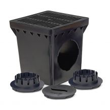 Rain Bird Black Grid 2 Outlet Square Catch Basin Kit 9"