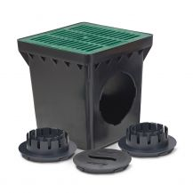 Rain Bird Green Grid 2 Outlet Square Catch Basin Kit 9"