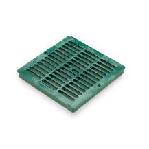 "Rain Bird Green Grid Flat Square Grate 12"" | DG12SFG"