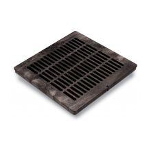 "Rain Bird Black Grid Flat Square Grate 18"" | DG18SFB"
