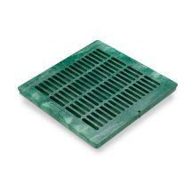 "Rain Bird Green Grid Flat Square Grate 18"" | DG18SFG"