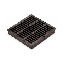 "Rain Bird Black Grid Flat Square Grate 9"" | DG9SFB"