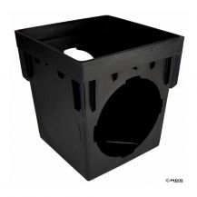 NDS Black 2 Outlet Square Catch Basin 12"