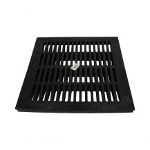 NDS Black Grid Flat Square Grate 18"