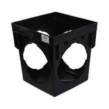 NDS Black 4 Outlet Square Catch Basin 9"