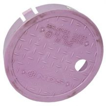 "NDS D109-PL 6"" Round Valve Box Non-Potable Cover"