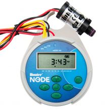 Hunter NODE 1 Station Battery Operated Controller with DC Latching Solenoid | NODE-100