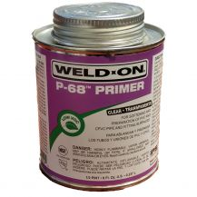 Weld-On P-68 Clear PVC Primer 8 oz | P68-010C