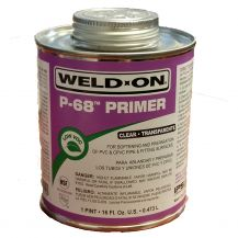 Weld-On P-68 Clear PVC Primer 16 oz | P68-020C