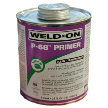 Weld-On P-68 Clear PVC Primer 32 oz | P68-030C
