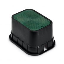 Rain Bird PVB Series PVBSTD Standard Rectangular Valve Box with Green Lid