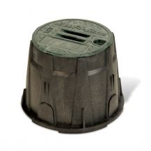 "Rain Bird VB Series VB10RNDH 10"" Round Valve Box with Locking Green Lid"