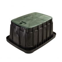 Rain Bird VB Series VBJMBH Jumbo Rectangular Valve Box with Locking Green Lid
