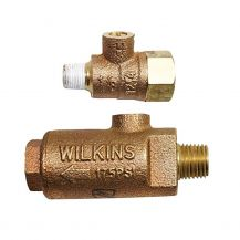 "Wilkins 14-ZWFR Freeze Prevention Valve 1/4"" MPT x FPT with 1/8"" Test Cock 
