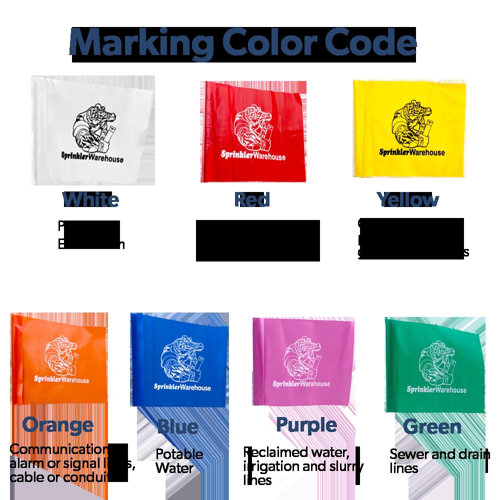 Marking flag color code