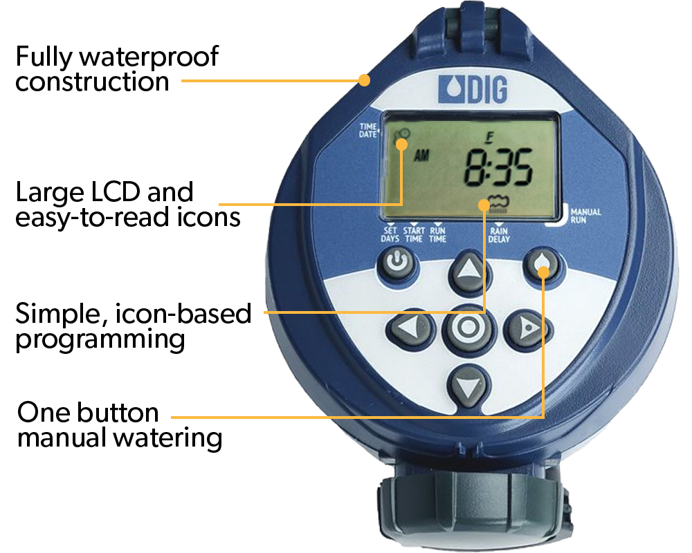 DIG 400A Battery Operated Controller with 1 Valve