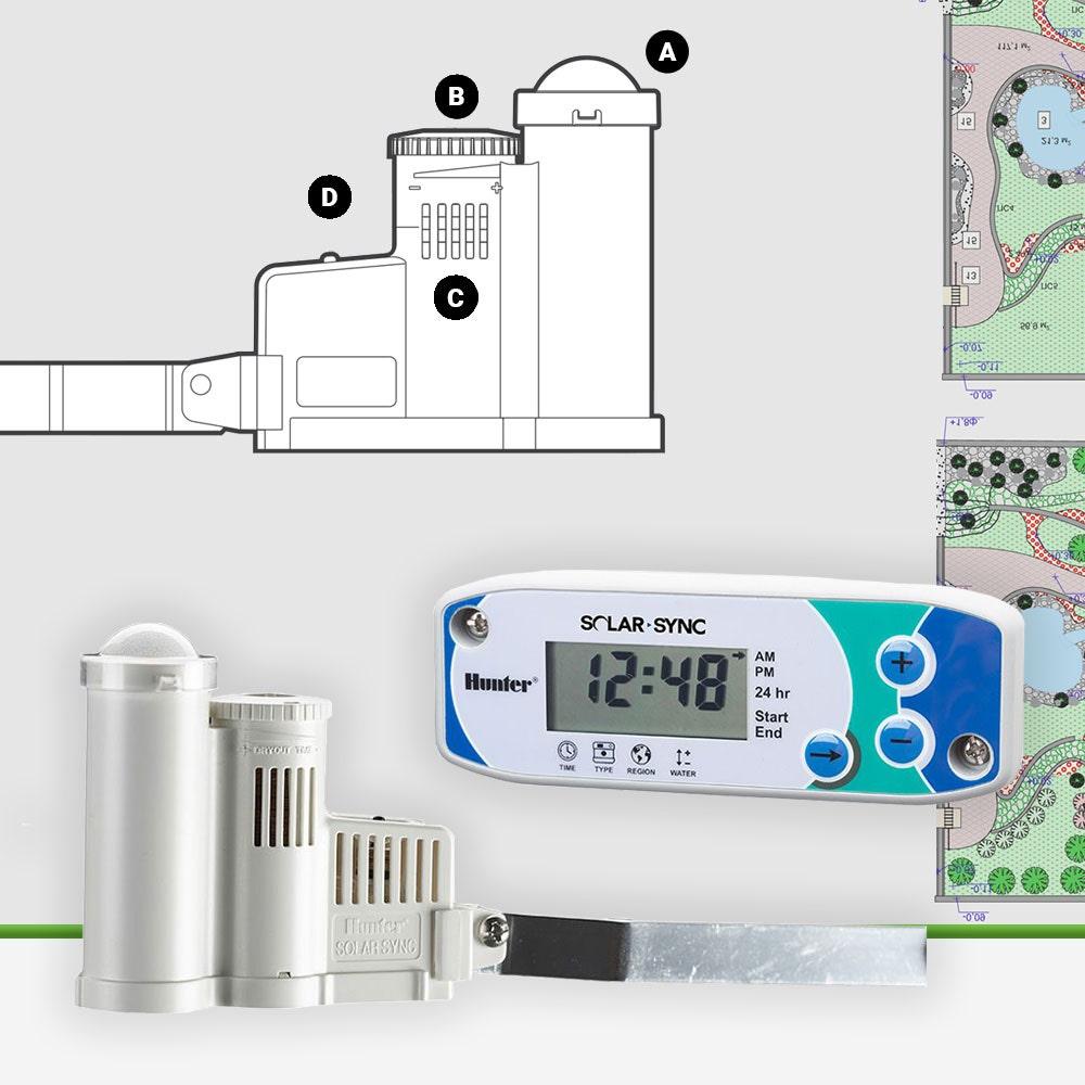 Hunter SOLARSYNC Wired Rain Freeze and Sun Sensor with Module