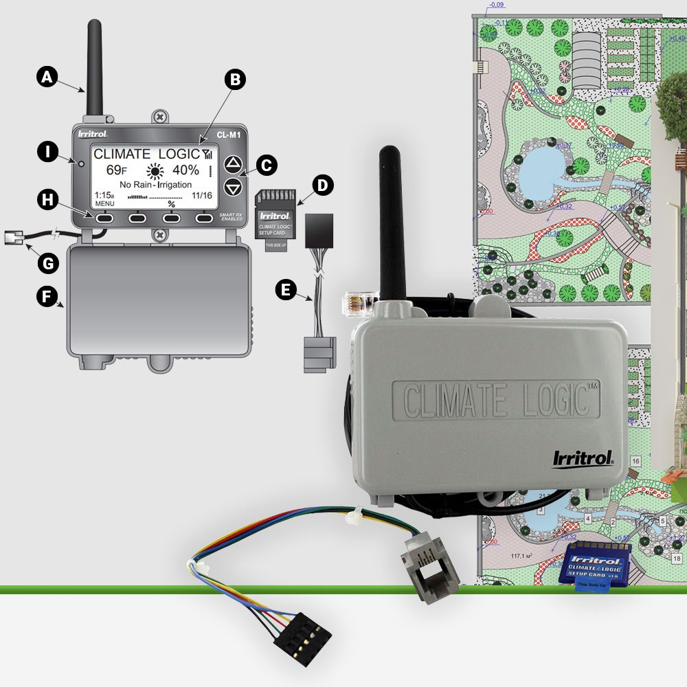 Irritrol CL-100-WIRELESS Climate Logic Wireless Weather Sensor System