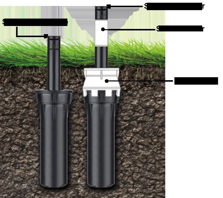 Kap-It Riser 1-1/2 in. Black Head & Nozzle Extender