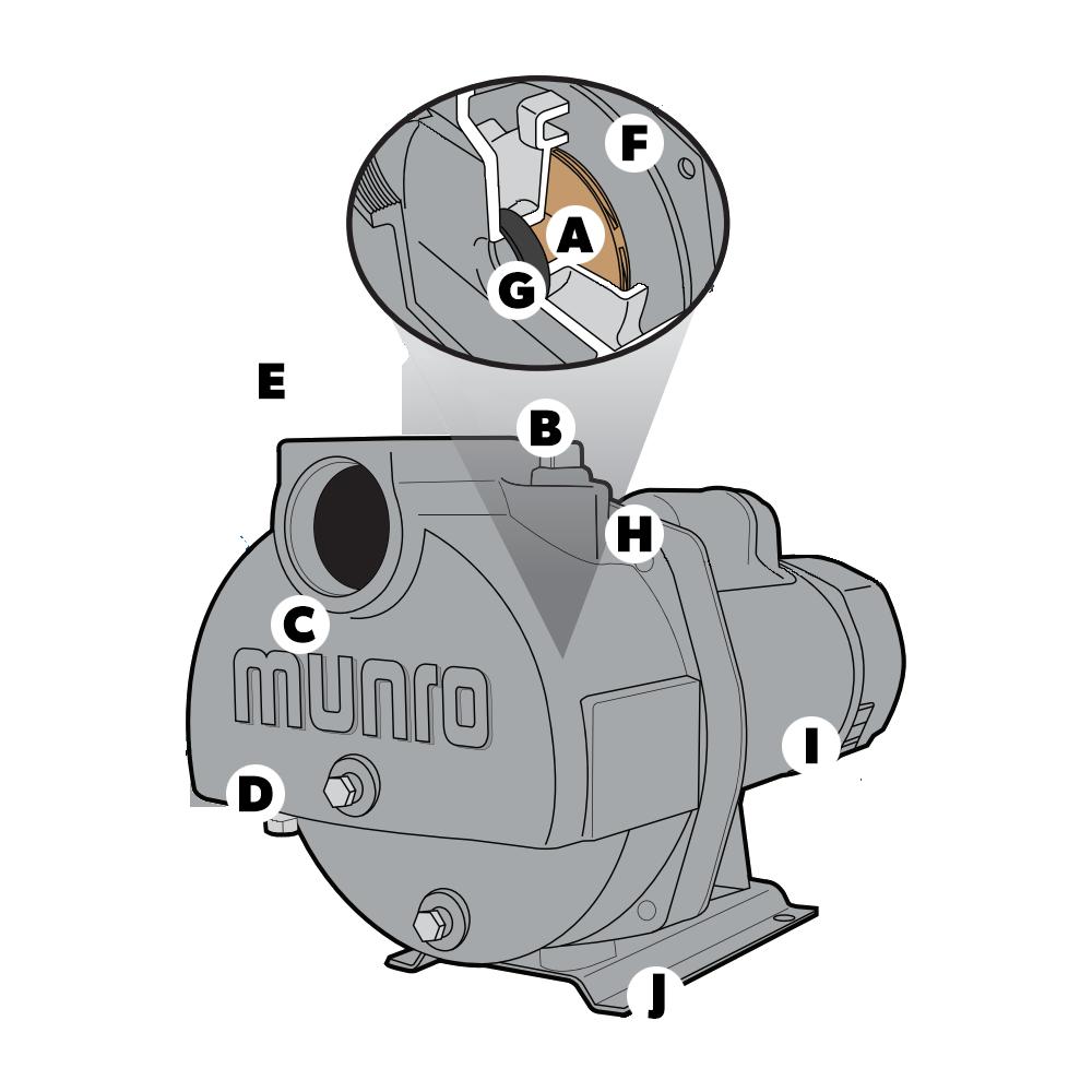 Munro 5 HP Single Phase Centrifugal Pump